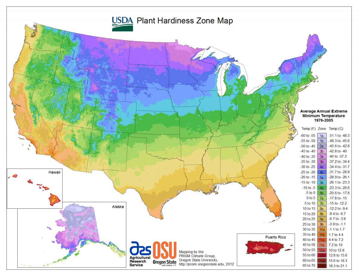 Maps Wisconsin Horticulture - Bottom half of us map