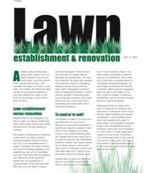 Lawn Establishment & Renovation